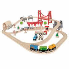 Hape Double Boucle Railway Set pré-scolaire en bois train enfant jouet 3 ans et ...