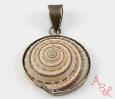 Sterling Silver Vintage 925 Seashell Pendant (6.4g) - 813619