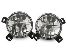 85-92 VW Golf Mk2 Mk.ll E-Code Inner Clear Round Crosshair Glass Headlights Set