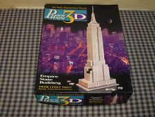 1994 Milton Bradley Puzz 3D Empire State Building Puzzle Over 3ft Tall Complete