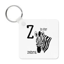 Letter Z Is For Zebra Keyring Key Chain - Alphabet Cute Animal Funny
