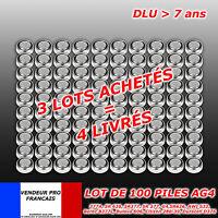 Lot revendeur 100  piles AG4 AG 4 LR66 SR66 LR626 SR626