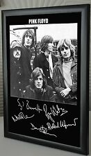 """Pink Floyd All Five Together Rare Framed Canvas Tribute Signed """"Great Gift"""""""