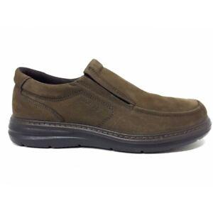 Enval Soft 6209222 mocassini scarpe uomo pianta larga nabuk marrone memory