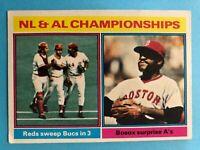 1976 Topps Baseball #461 1975 NL & AL Championships
