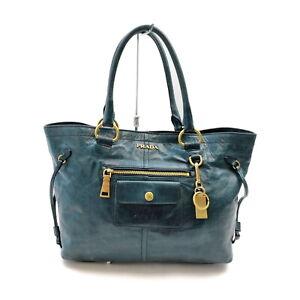 Prada Hobo Bag  Blue Leather 1420575