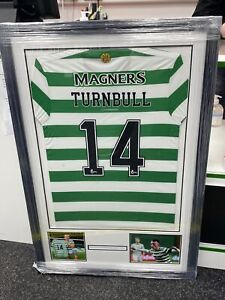 David Turnbull Match Worn Celtic Shirt - Framed - Celtic FC - With Exact Proof
