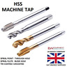 HSS MACHINE TAPS SPIRAL POINT FLUTE UNCOATED TIN COATED M3 M4 M5 M6 M8 M10 M12