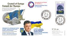 "CE68-IVB FDC Council of Europe ""Petro POROSHENKO President of Ukraine"" 10-2017"