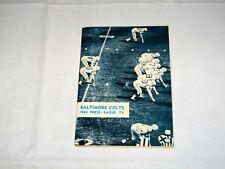 Baltimore Colts 1965 PRESS, RADIO & TV GUIDE