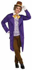 Willy Wonka Adult Men's Costume Chocolate Factory Purple Long Jacket  Halloween
