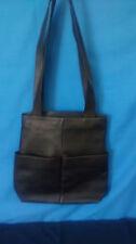 "Hobo International Black Leather Tote Purse Bag Handbag Strap Drop 14"""