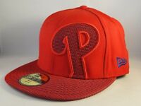 Philadelphia Phillies MLB New Era 59FIFTY Fitted Hat Cap Size 7 3/8 Red