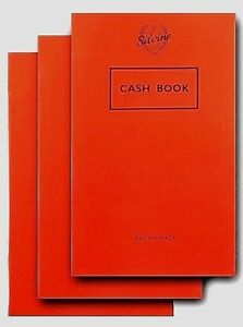3X Silvine Cash Book Note Pad Accounting Money Keeping British Made Free Post UK