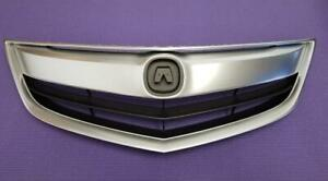 Fit ACURA ILX / HYBRID 13 14 15 Front Upper Satin Nickel Grill Grille w Molding
