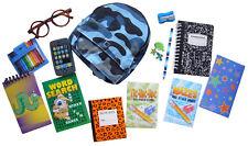 16 Piece School Supply Set for American Girl Boy Dolls W/ Blue Camo Backpack