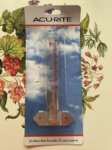 """ACU RITE ACURITE RAIN GAUGE SIDE MOUNT GROUND MOUNT 5"""" NEW OPEN PACKAGE GLASS"""