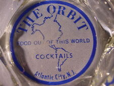 Vintage The Orbit Food Out Of This World Cocktails Atlantic City NJ Ashtray