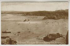 Cornwall postcard - General View of the Beaches, Newquay - P/U 1919 (A1398)