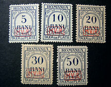 "GERMANY GERMANIA REICH 1918 1 WW Oc. Romania "" Segnatasse svr "" 5V.cpl set MH/US"