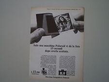 advertising Pubblicità 1967 POLAROID