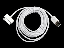 White 3M Extra Long USB Data Charge Cable for Samsung Galaxy TAB 10.1 P1000