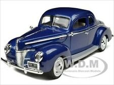 1940 FORD DELUXE BLUE 1:18 DIECAST MODEL CAR BY MOTORMAX 73108