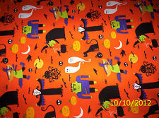 new  Halloween Pumpkin Witches & Vampires 100% cotton fabric by the yard
