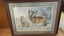 Solo Singer Wolves Print - Jorge Mayol Framed MINT Numbered and Signed #852/950