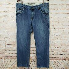 Vans Off The Wall Mens Distressed Jeans Sz 36x32 Blue Denim