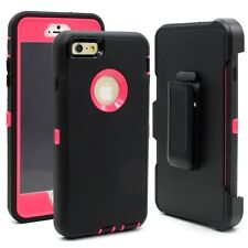 Shockproof Hybrid Hard Case Cover With Holster Phone Clip Apple iPhone 6 6s Plus
