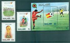 "FOOTBALL - WORLD CHAMPIONSHIP MALAWI 1982 ""Spain '82"" set+block"