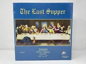 """The Last Supper 2000 Piece Jigsaw Puzzle 22"""" x 47"""" 46224 Sunsout USA Brand New"""