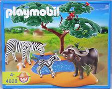 Playmobil 4828 Safari abrevadero búfalo cébra pájaros árbol nuevo Sealed