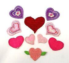 IH1 - 10 x Variado Corazón Detalles, Termoadhesivo Para Coser Tejido Parches