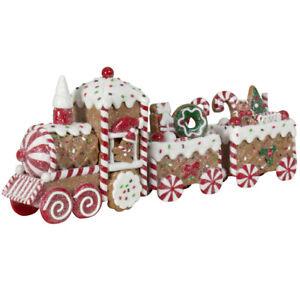 Lebkuchen Zug 33cm Weihnachts Tisch Deko Winterliche Dekoration Weihnachten