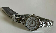 NEW! ANNE KLEIN AK SWAROVSKI CRYSTALS ACCENTED SILVER BRACELET WATCH $85 SALE
