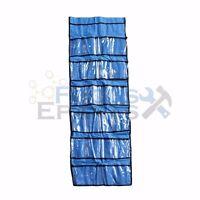 22 Pocket Shoe Organizer Spacer Saver Rack Hanging Closet Rod Storage - Blue