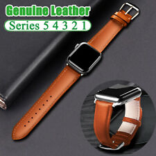 Genuine Leather Strap Watch Band For Apple Watch Series 5 4 3 2 1 44 40mm Strap