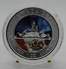 2017 Canada - Voyageur 150 Years Canada - The Flag -1 Oz Silver Colored Coin