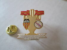 a1 REAL MADRID - VALENCIA final cup uefa champions league 2000 football pins