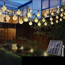 30LED Solar Ball String Light Waterproof Outdoor Garden Party Fairy Decor Lamp