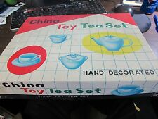 VINTAGE - CHINA TOY TEA SET - 22 PIECE - ORIGINAL BOX - VERY GOOD