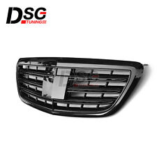 FOR MERCEDES BENZ S-CLASS W222 FRONT MESH GRILLE S65 STYLE GLOSSY BLACK 2014-16