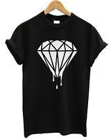DRIPPING DIAMOND T SHIRT HIPSTER TUMBLR LOGO SWAG FRESH DOPE TOP MEN WOMEN GIRLS