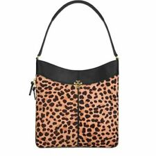 NWT IN PLASTIC Tory Burch Ivy Hobo Leopard Hobo Leather and Calf Hair Bag $595