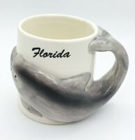 Florida Dolphin Handle Souvenir Coffee Mug Cup A Gift Corp