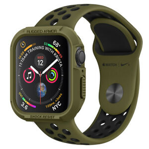 Apple Watch Series 6 5 4 SE Case (40mm 44mm) Spigen®[Rugged Armor] Slim Cover