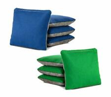 Pro-Style All Weather Green and Blue Cornhole Bags Slick & Stick w/ Grey Suede