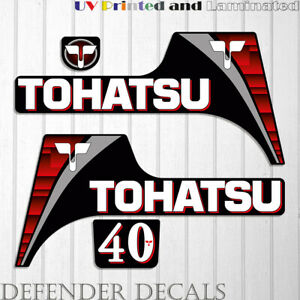TOHATSU  40 hp Two Stroke outboard engine decal sticker set kit 40HP